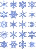 Snowflakes icon collection. Vector shape Stock Photos
