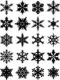 Snowflakes icon collection. Vector shape Royalty Free Stock Images