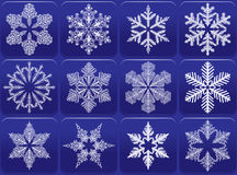 Snowflakes icon set Stock Image