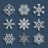Snowflakes icon set collection. Vector shapes. Stock Photography