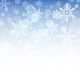 Snowflakes icon set collection. Vector shapes. Royalty Free Stock Image