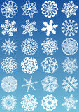 Snowflakes icons Royalty Free Stock Images