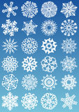 Snowflakes icons Stock Photo