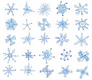 Snowflakes Icons Stock Photos