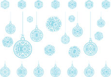 Snowflakes icons gadgets Stock Photo