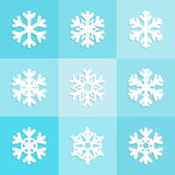 Snowflakes icons set design, Christmas  winter collection. Vector illustration Stock Photography