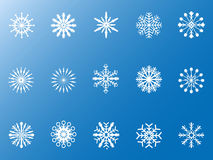 Snowflakes icons set Stock Photos