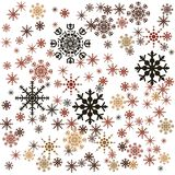 Snowflakes illustration Royalty Free Stock Photos
