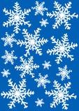Snowflakes Illustration. Against blue background Stock Photo