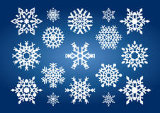 Snowflakes (illustration) Stock Photography