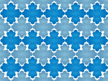 Snowflakes. Illustration of blue snowflakes in two colors Royalty Free Stock Photography