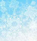 Snowflakes Illustration On A Light Blue Background Royalty Free Stock Image