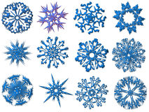 Snowflakes illustrations Royalty Free Stock Images