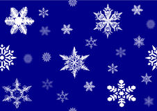 Snowflakes , vector file. Looks very beautiful  snowflakes, three-dimensional screen effect Royalty Free Stock Images