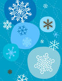 Snowflakes In Blue Stock Photography