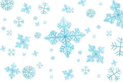 Snowflakes isolated. On white background Royalty Free Stock Photos