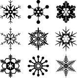 Snowflakes isolated. Snowflakes illustration isolated on white vector illustration
