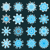 Snowflakes. Isolated snowflakes for christmas design. Vector set Stock Image