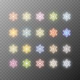 Snowflakes isolated on transparent background. royalty free illustration