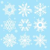 Snowflakes isolated Vector clipart vector illustration