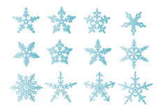 Snowflakes  isolated Royalty Free Stock Images