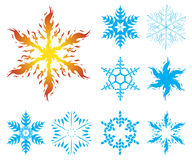 Snowflakes iv002 Royalty Free Stock Image