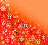 Snowflakes on joyful background Royalty Free Stock Image