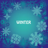 Snowflakes and joyful mood for your design Stock Photography