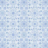 Snowflakes lace pattern.New year,Christmas,Winter. Snowflake lace pattern, ornamental background,symmetric backdrop.Christmas,new year holiday decor,Winter blue Royalty Free Stock Photo