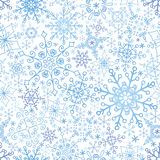 Snowflakes lace seamless pattern,Winter,Christmas Stock Photos