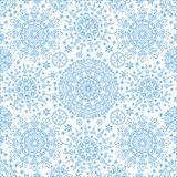 Snowflakes lace symmetry  seamless pattern Royalty Free Stock Photography