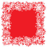 Snowflakes Layout Stock Images
