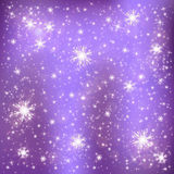 Snowflakes on a lilac background Royalty Free Stock Photography