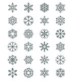 Snowflakes in linear  style Stock Photos