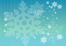 Snowflakes in lines. Snowflakes in crystal blue lines background Stock Image