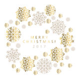 Snowflakes luxury pastel color header or card. Royalty Free Stock Images