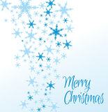 Snowflakes Merry Christmas Card Stock Photo