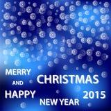 Snowflakes merry christmas Royalty Free Stock Image