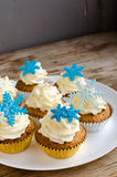 Snowflakes Muffins Royalty Free Stock Image
