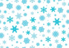 Snowflakes, New year background. Seamless pattern. Vector Vector Illustration