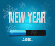 Snowflakes new year loading concept Stock Photos