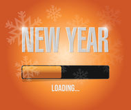 Snowflakes new year loading concept Stock Photography