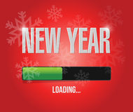 Snowflakes new year loading concept. Illustration design over a red background stock illustration