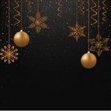 Snowflakes on New year night Stock Photos