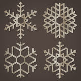 Snowflakes of old paper Stock Photos