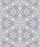 Snowflakes On Silver Background Royalty Free Stock Photo