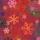 Snowflakes On Textured Background Royalty Free Stock Photo