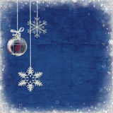 Snowflakes and ornament Royalty Free Stock Images