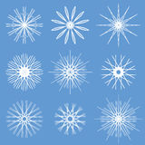 Snowflakes Ornament Set Stock Images