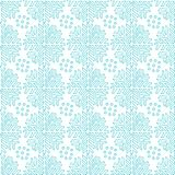 Snowflakes ornamental seamless pattern. Blue texture for Christmas decorations. Abstract endless background. Vector. Design for textile or wrapping paper Stock Images
